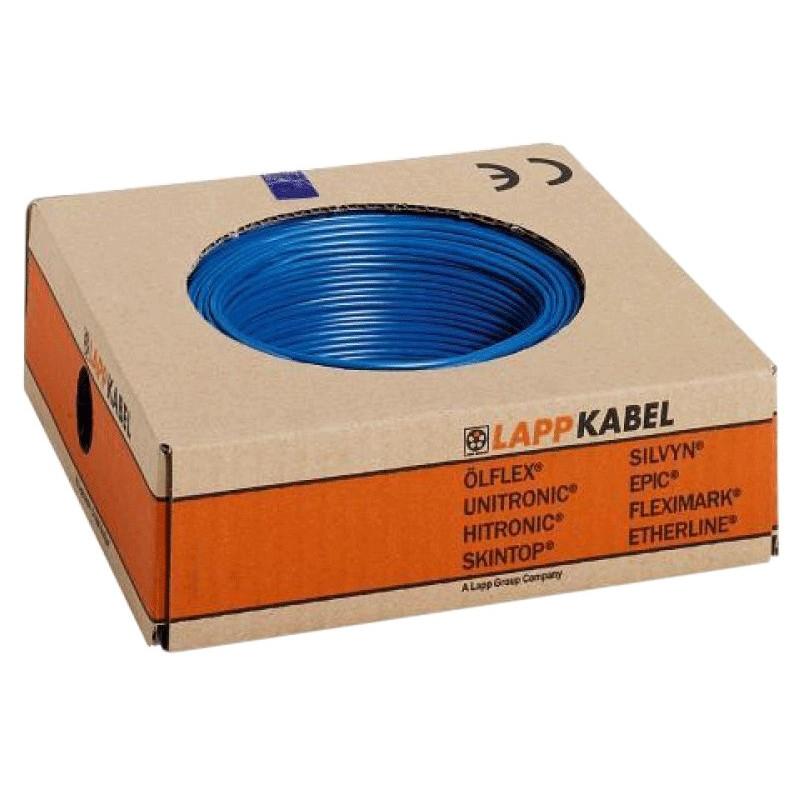 Installatie draad LAPP H07V2-K90 1x2,5mm2 doos 100m Blauw