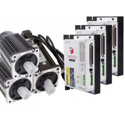 simDrive™ AC Servo System 750W Drivers and Motors (Brake) 3 Axis Set
